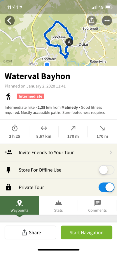 Wandeling Waterval Bayhon