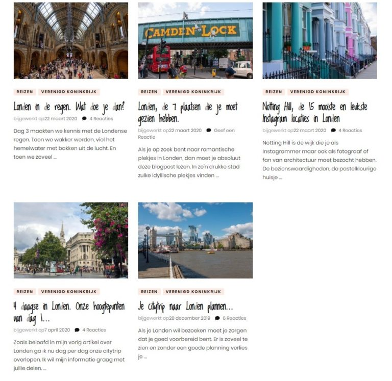 Blogs Londen