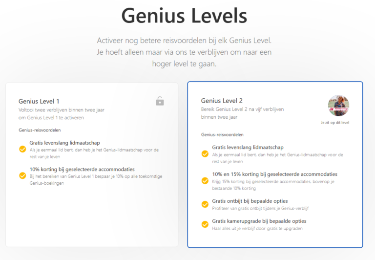 Genius programma Booking com