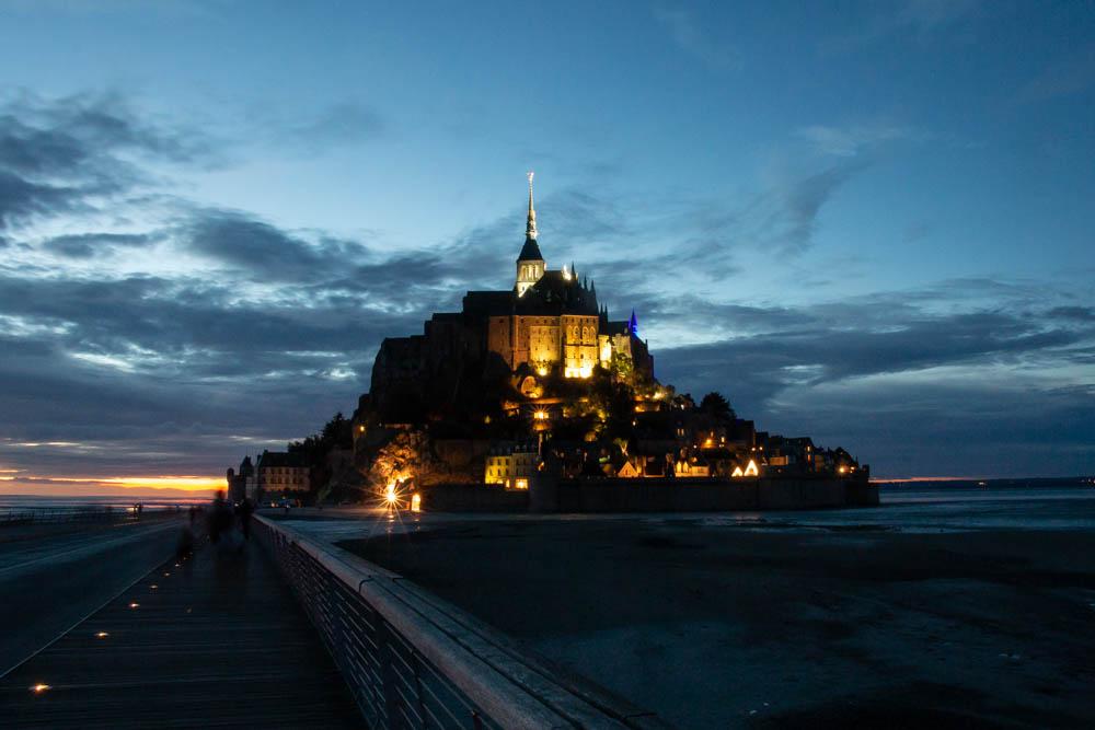 Mont-Saint-Michel by night