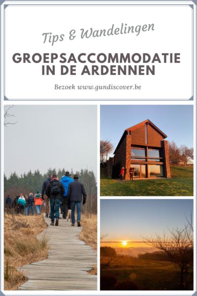 Groepsaccommodatie Ardennen Pinterest Graphic